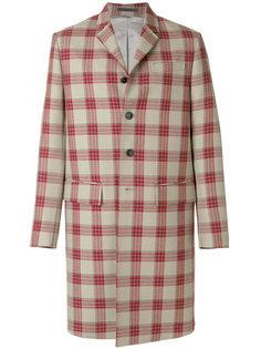 однобортное пальто в клетку Valentino