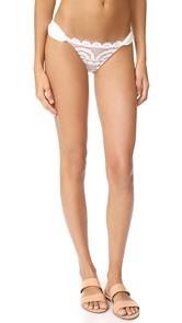 PilyQ Lace Fanned Full Bikini Bottoms