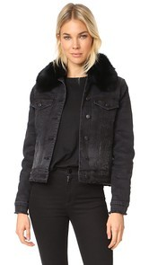 Generation Love Muriel Denim Jacket with Optional Fur Lining