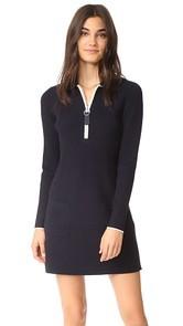 Grey Jason Wu Long Sleeve Polo Dress