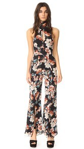 Nicholas Lola Long Sleeve Backless Jumpsuit