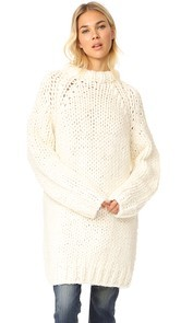 R13 Oversized Chunky Fisherman Sweater