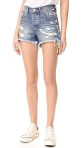 One Teaspoon Blue Buoy Hawk Shorts