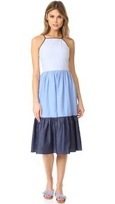 ENGLISH FACTORY Sleeveless Maxi Dress with Flares