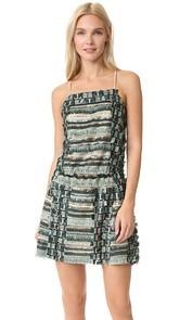 Anna Sui Sequin Fringe Cross Back Dress