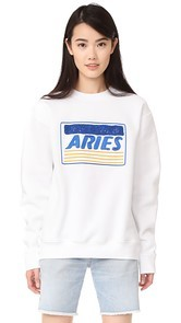 Aries Credit Card Embroidered Sweatshirt