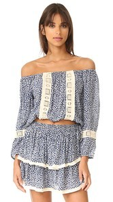 coolchange Skye Off Shoulder Crop Top