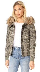 Generation Love Fran Camo Bomber Jacket