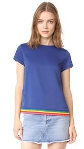 Mira Mikati Rainbow Rib Scuba Top