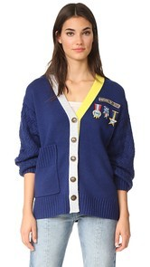 Mira Mikati Scout Patch & Embroidered Knit Cardigan