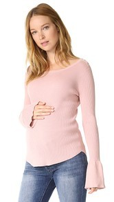 HATCH Tulip Sleeve Sweater