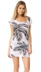 Surf Bazaar Palm Print Muscle Tunic