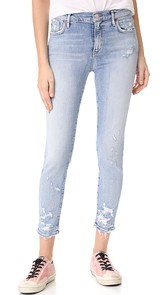 AGOLDE Sophie High Rise Crop Skinny Jeans