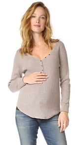 HATCH Rib V Neck Henley