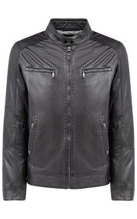 Утепленная куртка из натуральной кожи Jorg Weber