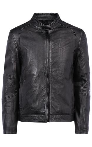 Мужская куртка из натуральной кожи на синтепоне