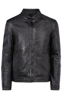 Мужская куртка из натуральной кожи на синтепоне Urban Fashion for men