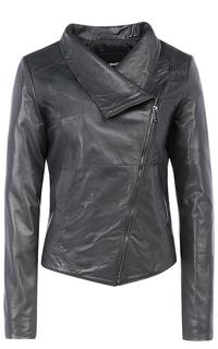 Женская куртка из натуральной кожи на синтепоне La Reine Blanche