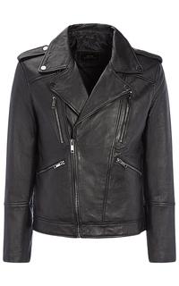 Мужская куртка-косуха из натуральной кожи Urban Fashion for men