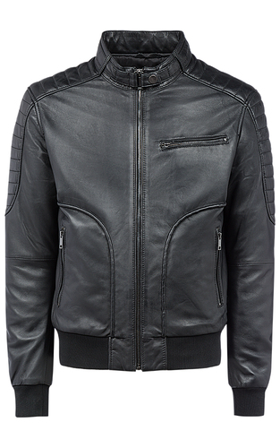Утепленная куртка из натуральной кожи