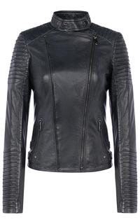 Женская кожаная куртка на синтепоне La Reine Blanche