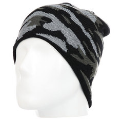 Шапка Quiksilver Knox Beanie Hats Black Grey Camokazi