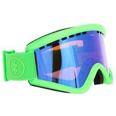 Маска для сноуборда Electric Egv Slime Green Brose/Blue Chrome