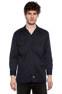 Рубашка Dickies Long Sleeve Work Shirt Dark Navy
