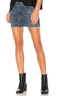 Мини юбка с пятью карманами - DENIM x ALEXANDER WANG