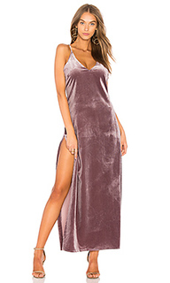 Бархатное макси платье dont be jealous - LIONESS