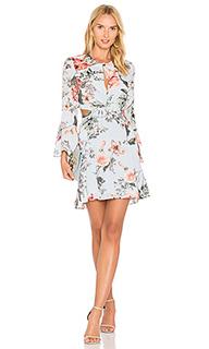 Цветочное платье с оборками - Bardot