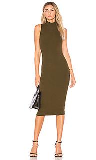 Платье в рубчик с высоким воротом - GETTINGBACKTOSQUAREONE