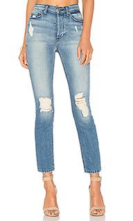 Прямые джинсы с высокой талией joan - Black Orchid