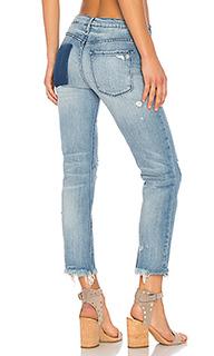 Прямые потрепанные джинсы бойфренд brooklyn - Black Orchid