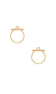 Серьги-гвоздики с кольцом - Rebecca Minkoff