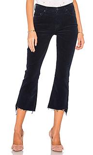 Укороченные вельветовые джинсы с потрепанным низом insider - MOTHER
