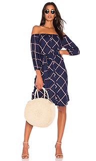 Клетчатое платье с открытыми плечами reily - Splendid