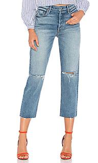 Прямые укороченные джинсы с высокой талией helena - GRLFRND