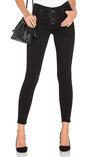 Узкие джинсы на шнуровке heidi - Black Orchid