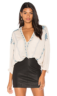 Блуза с вышивкой crescent moon - Free People