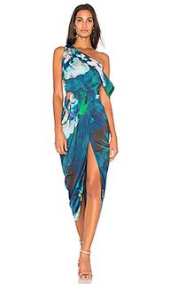 Драпированное миди платье - Michelle Mason