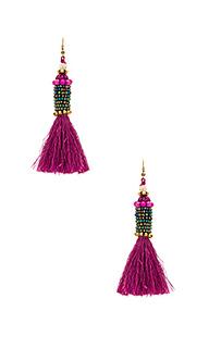 Цилиндрические серьги с кисточками kata - Natalie B Jewelry