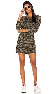 Текстурированное камуфляжное платье-свитшот - Bobi