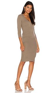 Облегающее платье в мелкий рубчик - James Perse