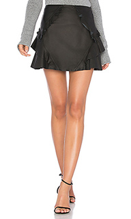 Кожаная мини юбка с рюшами - DEREK LAM 10 CROSBY