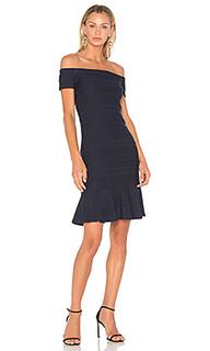 Стрейчевое платье с открытыми плечами - Rebecca Taylor