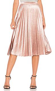 Велюровая плиссированная юбка - Bardot