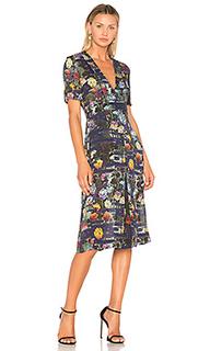 Платье с глубоким v-образным вырезом trapunto - Raquel Allegra