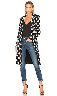 Двубортное пальто с поясом - Norma Kamali