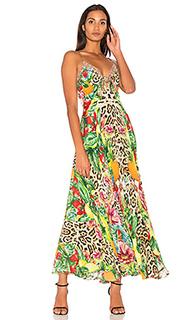 Макси платье с завязкой спереди - Camilla